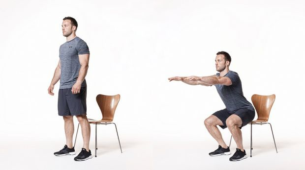 Chair Squat Stand-Ups