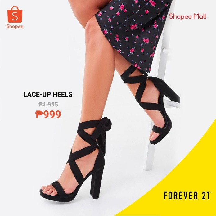 Shopee x Forever 21 - Lace-up Heels