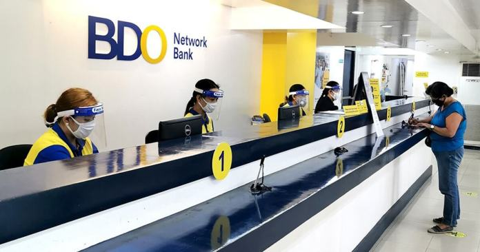 BDO Network Bank branch counter