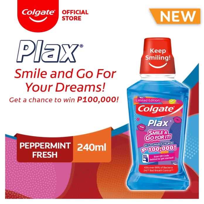 Colgate Plax Smile and Go For Your Dreams! Promo Limited Edition Peppermint Fresh Mouthwash 240ml