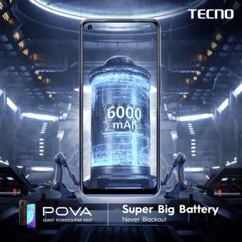 Tecno POVA - 6000mah Battery