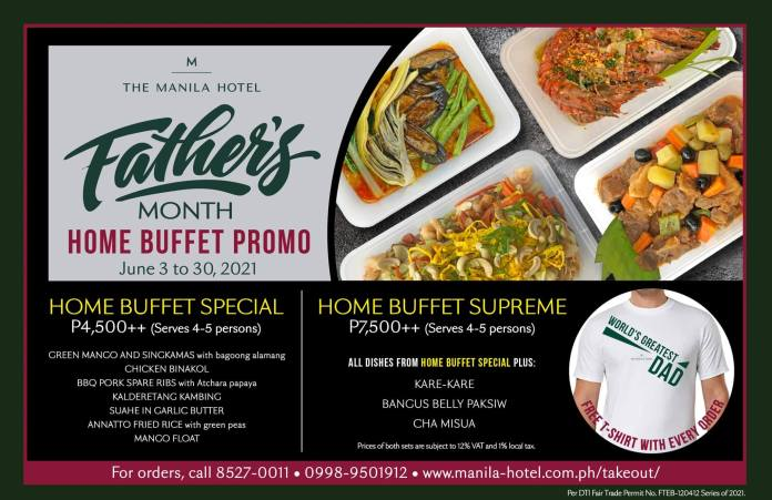 Fathers Day Home Buffet Promo