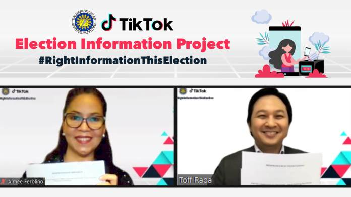 The partnership between TikTok and COMELEC was officially kicked-off with a Memorandum of Understanding signing.