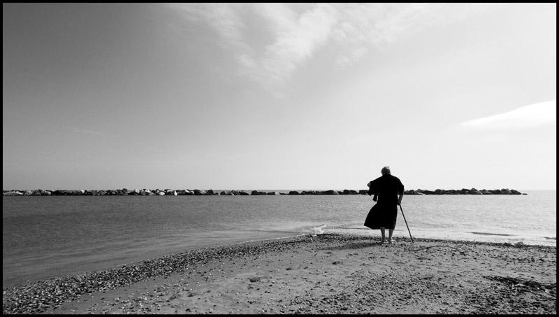 La signora delle conchiglie. Casalborsetti, 2006