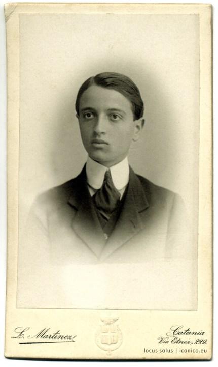 Domenico Nicosia. Foto Martinez, 1908
