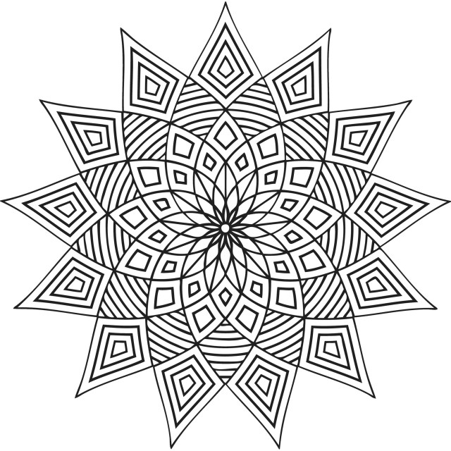 Geometric shapes coloring pages – iconmaker.info