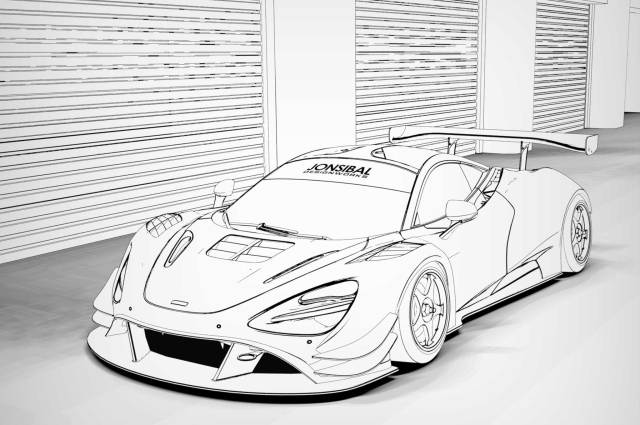 Mclaren 20s coloring page – iconmaker.info
