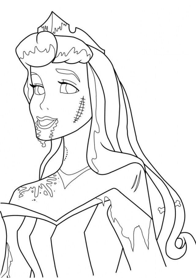 Zombie princess coloring pages – iconmaker.info