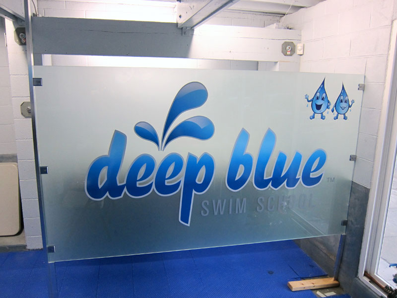 Indoor Window Signs For Deep Blue By Iconography Long Beach