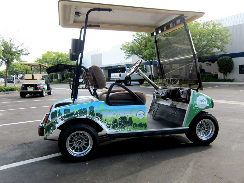 Custom Golf Cart Designs For Espn By Iconography