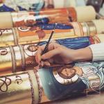 Cirios Pasuales pintados a mano