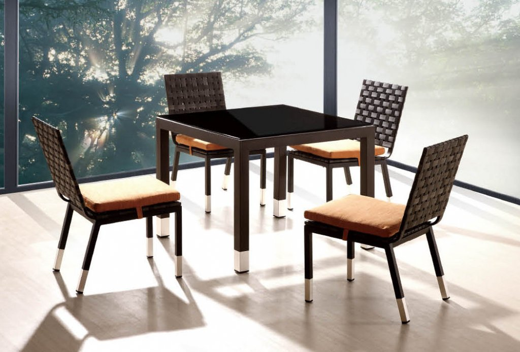 Taco Dining Set For 4 With Square Dining Table