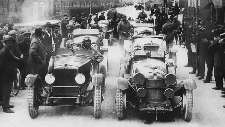 Mille Miglia: La salida en 1928, con los coches aún limpios (y enteros)