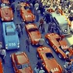 Mille Miglia: Piazza della Vittoria, Brescia, 1955 |Yves Debraine The Klemantaski Collection