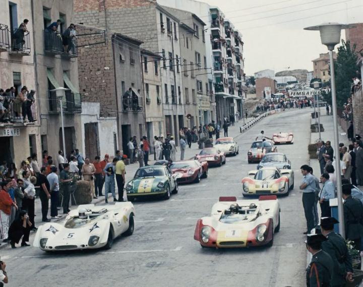 Parrilla de salida en Guadalope en 1969