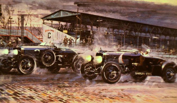 Hispano-Suiza vs Stutz: Esta pintura recrea la salida de la carrera
