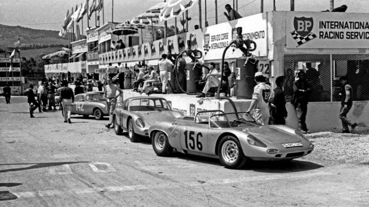 El equipo Porsche en la Targa Florio de 1963