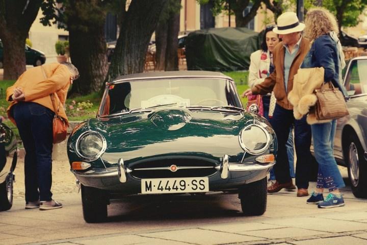 Jaguar E-Type en La Granja de San Ildefonso