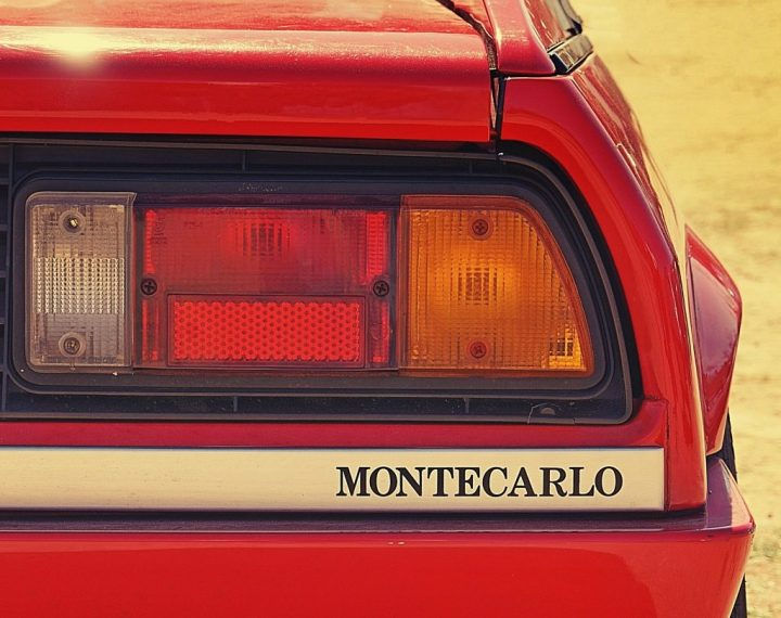 Typography Lancia Beta Monteacarlo