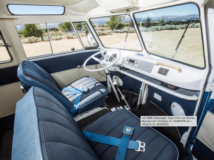Bonhams 1965 Volkswagen Type 2 De Luxe Samba Bus $ 78,400