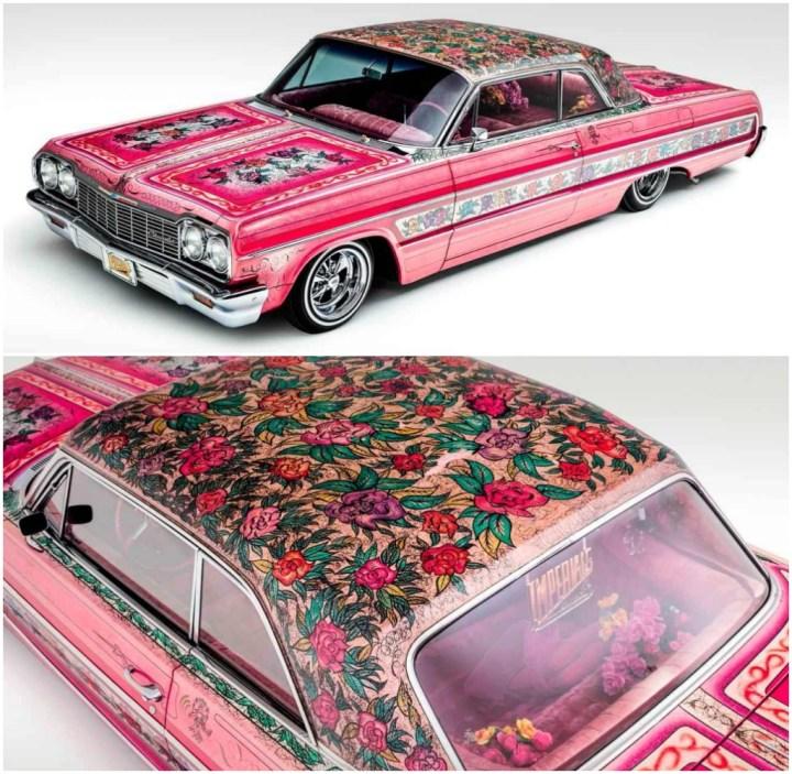 """El  """"Gypsy Rose"""", un Chevrolet Impala de 1964 diseñado por Jesse Valadez"""