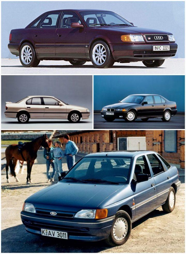 Audi 100 C4, BMW E36, Nissan Primera P10, Ford Escort MkV
