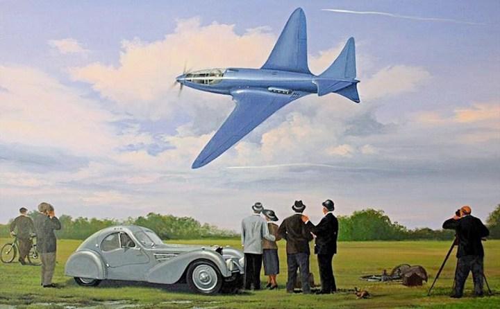 Así podría haber sido el primer vuelo del Bugatti Modelo 100
