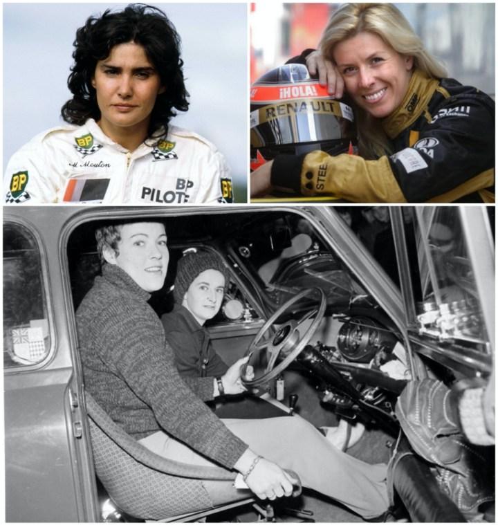 Michelle Mouton, María de Villota y Pat Moss con su copiloto, Ann Wisdom