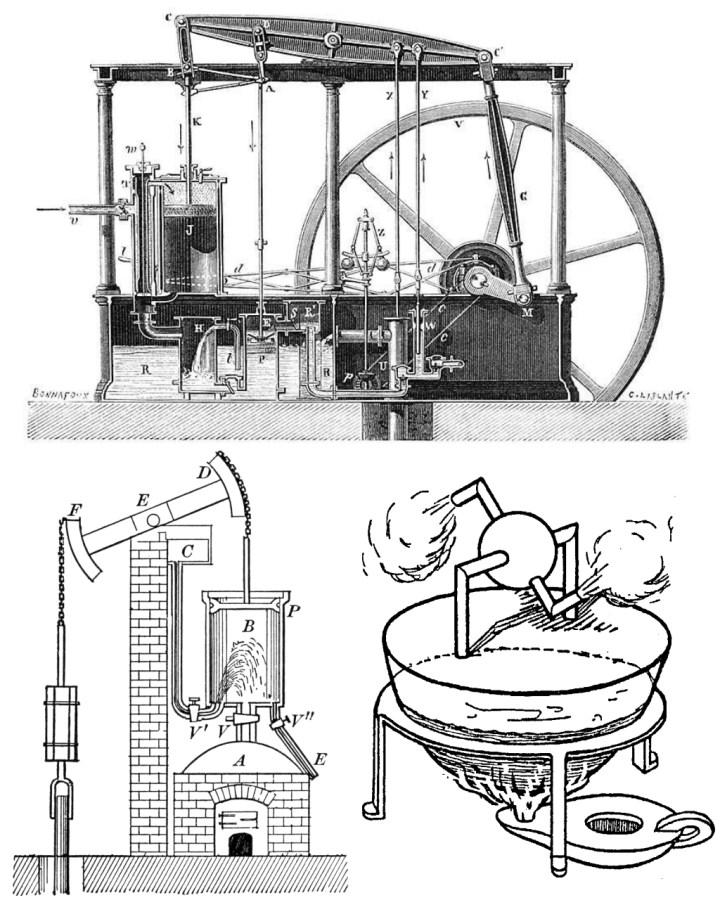 Coches a vapor: máquinas a vapor