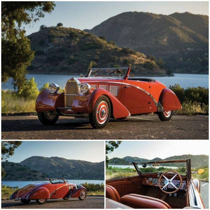 Subastas Monterey 2021: 1937 Bugatti Type 57 Cabriolet est 650-800.000 $ 665.000 $   RM Sotheby's