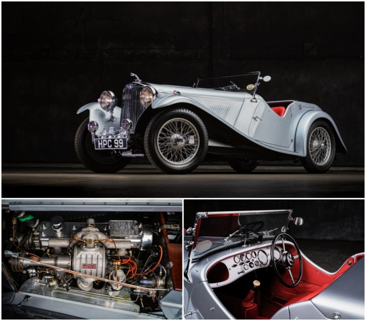 Subastas Monterey 2021: 1938 AC 16_90 Two Seater Competition Sports est 250-350.000 $ 224.000 $   RM Sotheby's