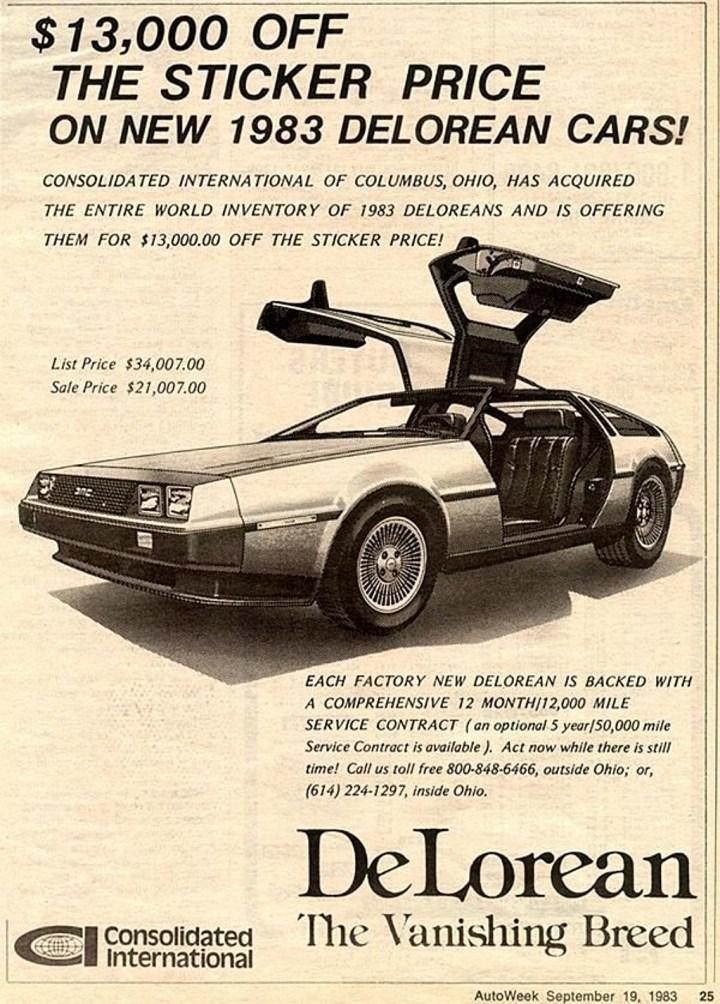 Curiosidades autos clásicos #039 DeLorean a precio de saldo