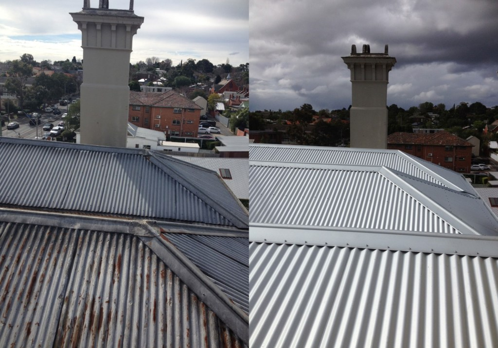 Color Bond Metal Roofing Before and after