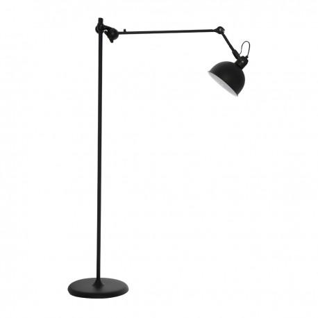lampe sur pied design moderne industrielle albin noir