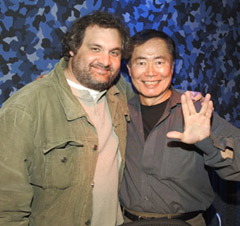 Artie Lange and George Takei