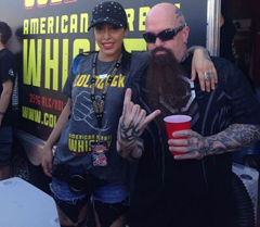 Kerry King and his wife partaking in the spirits.