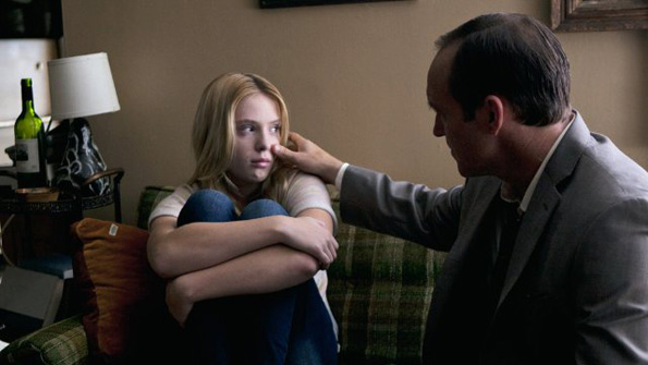 Saxon Sharbino and Clark Gregg in 'Trust Me'