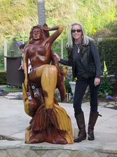 Cherie Currie and one of her amazing creations.
