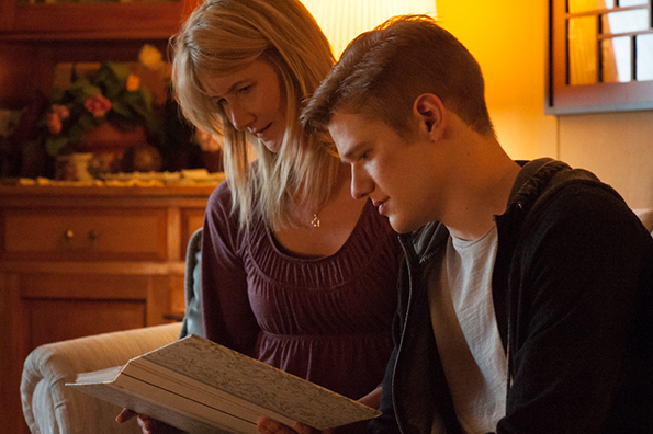Laura Dern and Lucas Till in 'Bravetown'