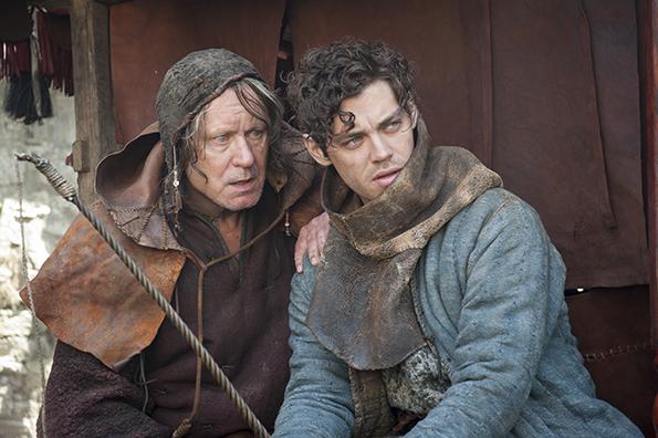 "Stellan Skarsgard and Tom Payne in ""The Physician"""