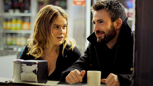 Alice Eve and Chris Evans