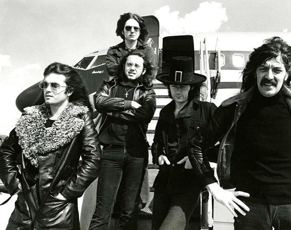 Deep Purple Mark III getting off their plane The Starship