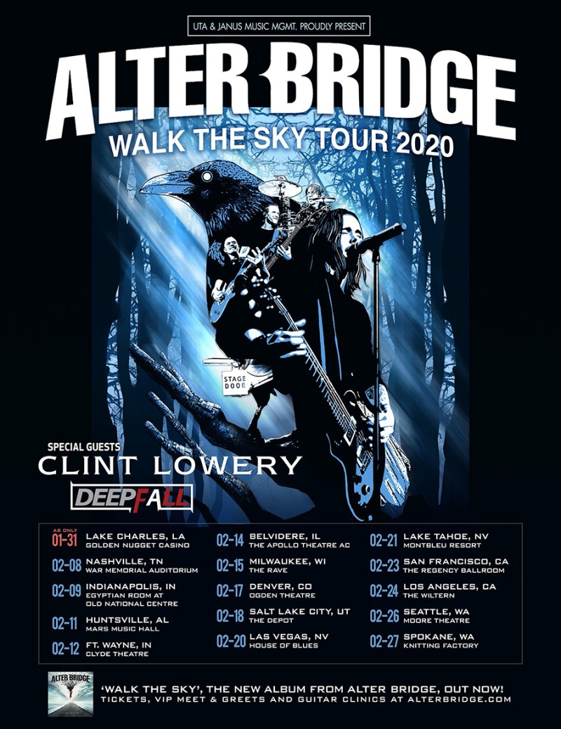 Alter Bridge - Walk The Sky Tour 2020