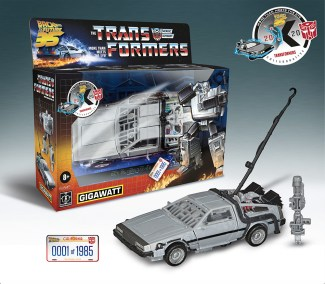 In celebration of the film's 35th anniversary, Hasbro, Inc. and Universal Brand Development today revealed the first-ever TRANSFORMERS-Back to the Future Collaboration, starring the all new character GIGAWATT.