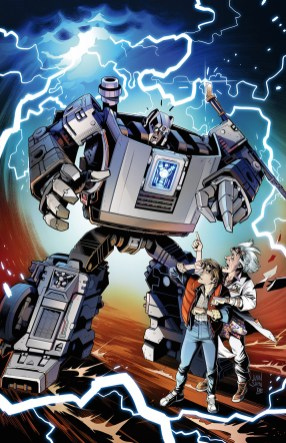 In addition to the collectible figure, from IDW comes Transformers / Back to the Future – the four-part, comic book series. The first issue cover is being revealed today and will be available in October 2020.