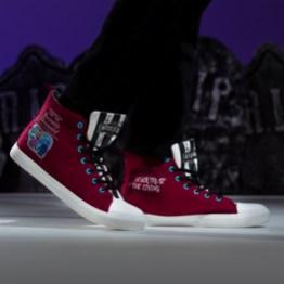 Unisex Beetlejuice Recently Deceased Maroon High Top Sneakers