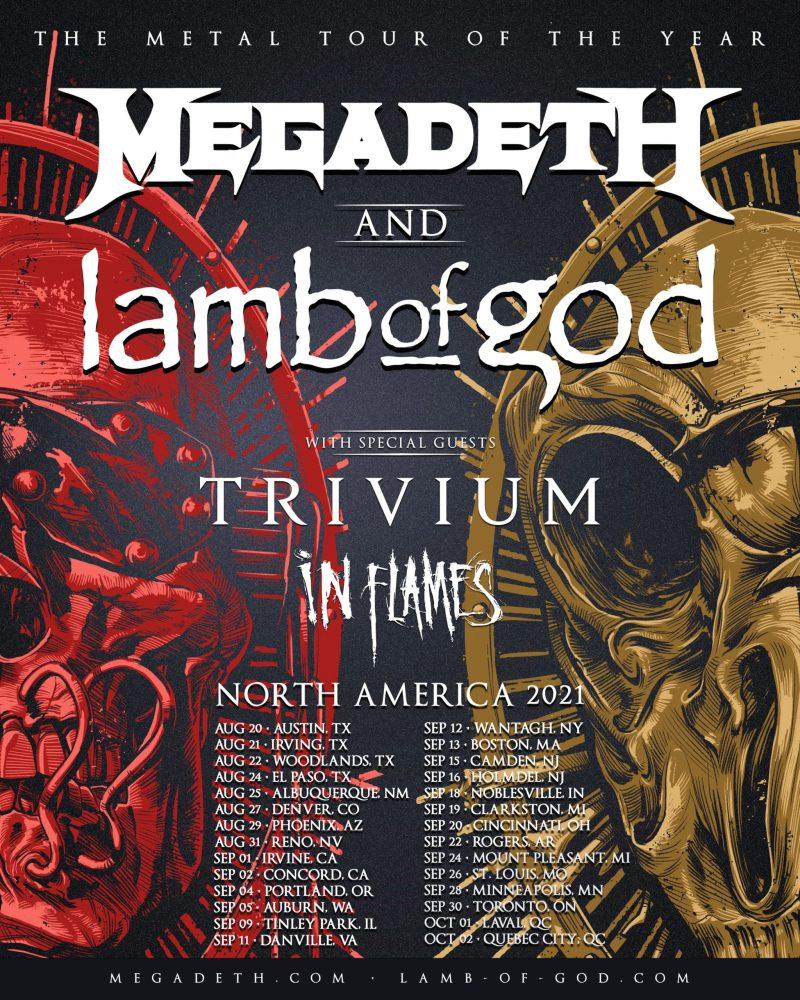 Megadeth and Lamb of God Tour 2021