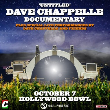 """Dave Chappelle's """"Untitled"""" Documentary To Screen at Hollywood Bowl"""