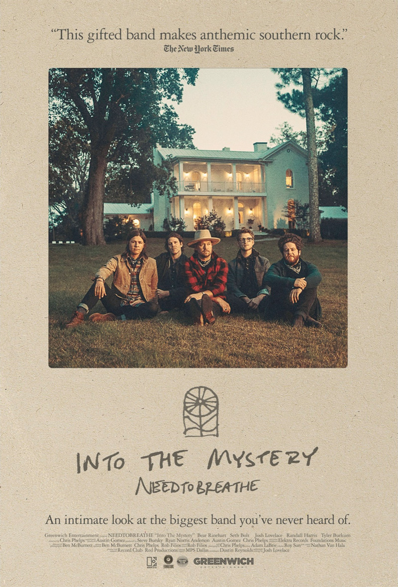 'Needtobreathe: Into The Mystery' Documentary to Premiere in Theaters on Nov. 3