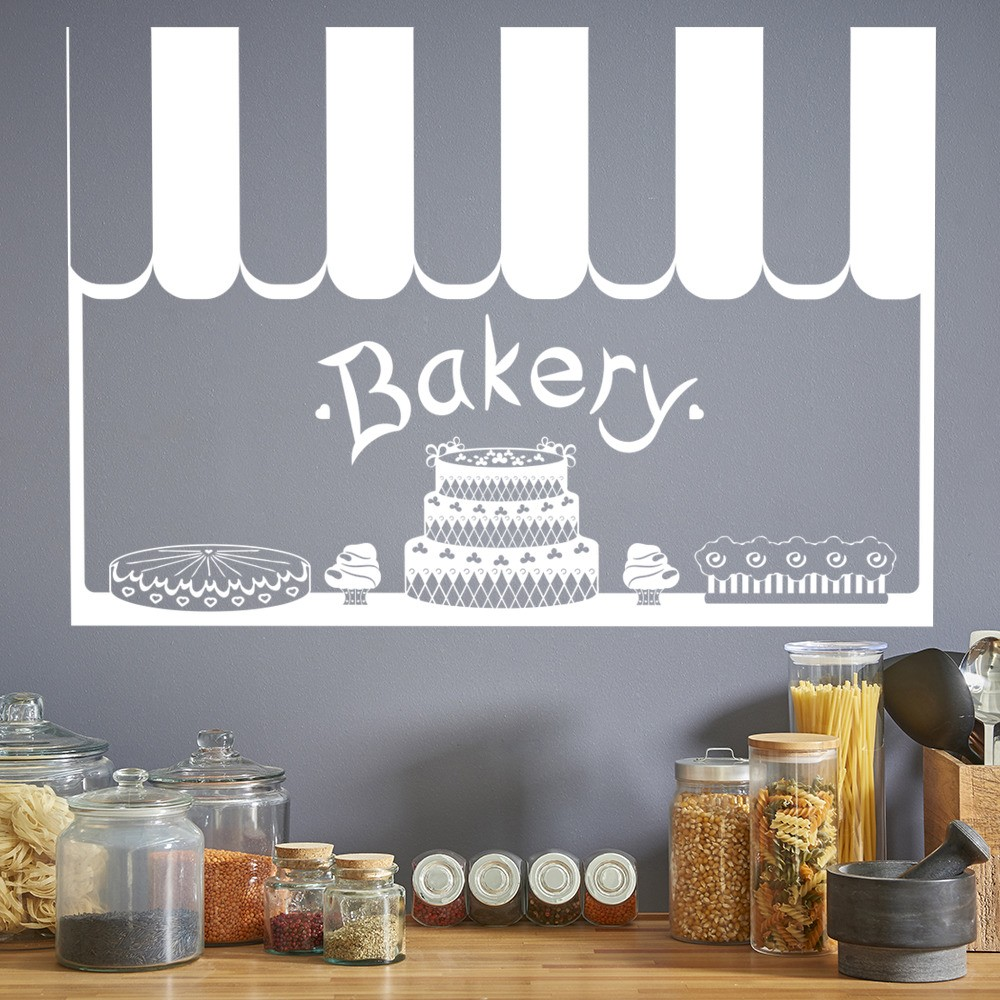 Bakery Shop Wall Sticker Kitchen Wall Decal Cafe Shop Home